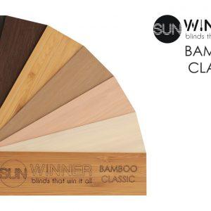 ŻALUZJE DREWNIANE I BAMBUSOWE Producent żaluzji drewnianych i bambusowych 25mm 50mm 65mm 70mm, Żaluzje drewniane elektryczne Bamboo Classic 50mm 53
