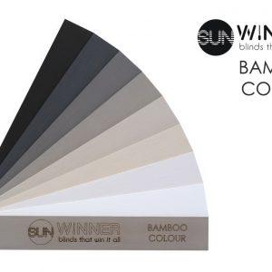 ŻALUZJE DREWNIANE I BAMBUSOWE Producent żaluzji drewnianych i bambusowych 25mm 50mm 65mm 70mm, Żaluzje drewniane elektryczne Bamboo Colour 25mm 54