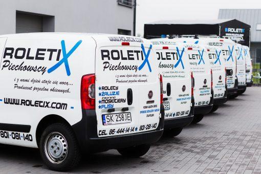 ROLETIX Flota Samochodowa. Własny transport rolet, żaluzji, moskitier, plis, wertikali, markiz, pergoli, żaluzji drewnianych - 1