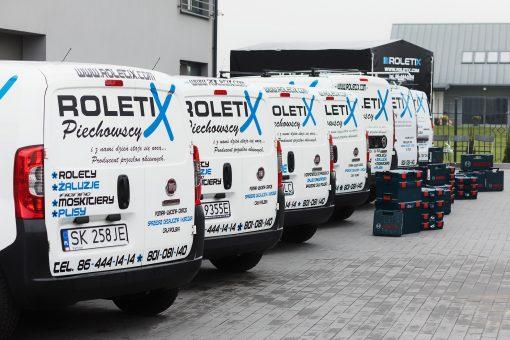 ROLETIX Flota Samochodowa. Własny transport rolet, żaluzji, moskitier, plis, wertikali, markiz, pergoli, żaluzji drewnianych - 6