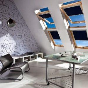 ROLETY DACHOWE Producent rolet dachowych, rolety dachowe do okien połaciowych dachowych, rolety dachowe w kasecie aluminiowej z prowadnicami 3